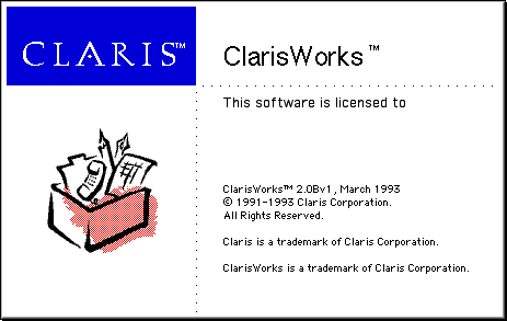Splash in ClarisWorks 2.0