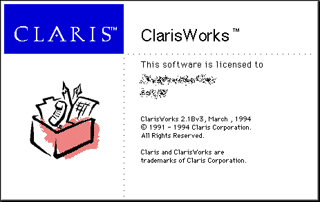 Splash in ClarisWorks 2.1