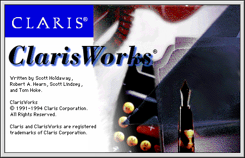 Splash in ClarisWorks 3.0