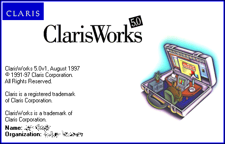 Splash in ClarisWorks 5.0