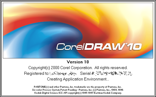 Splash in CorelDRAW 10