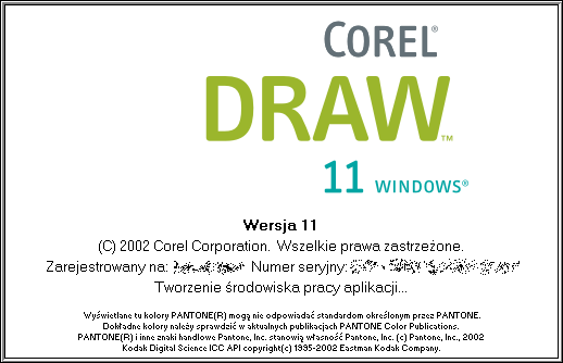 Splash in CorelDRAW 11