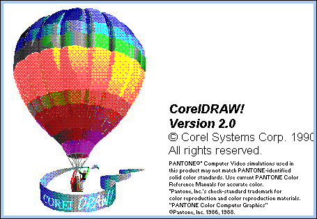 Splash in CorelDRAW! 2.0