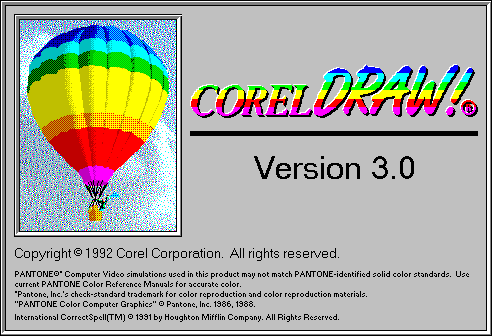 Splash in CorelDRAW! 3.0