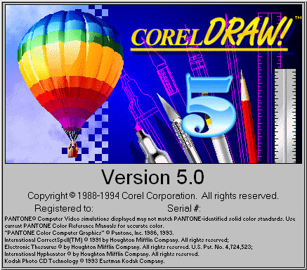 Splash in CorelDRAW! 5