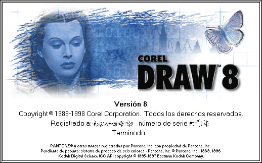 Splash in CorelDRAW 8