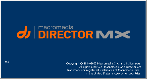 Splash in Macromedia Director MX