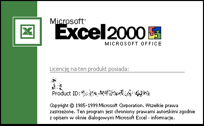 Splash in Microsoft Excel 2000