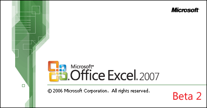 Splash in Microsoft Excel 2007