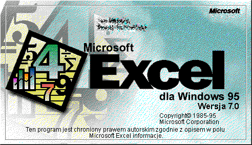 Splash in Microsoft Excel 95