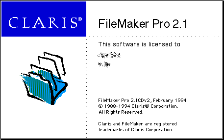 Splash in FileMaker Pro 2.1