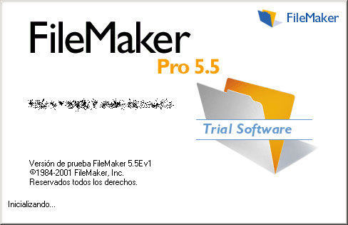 Splash in FileMaker Pro 5.5