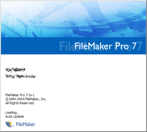 Splash in FileMaker Pro 7