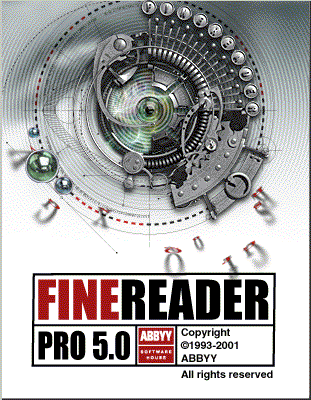 Splash in FineReader Pro 5.0