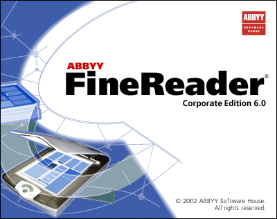 Splash in Abbyy FineReader Corporate Edition 6.0
