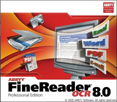 Splash in Abbyy FineReader OCR 8.0 Professional Edition