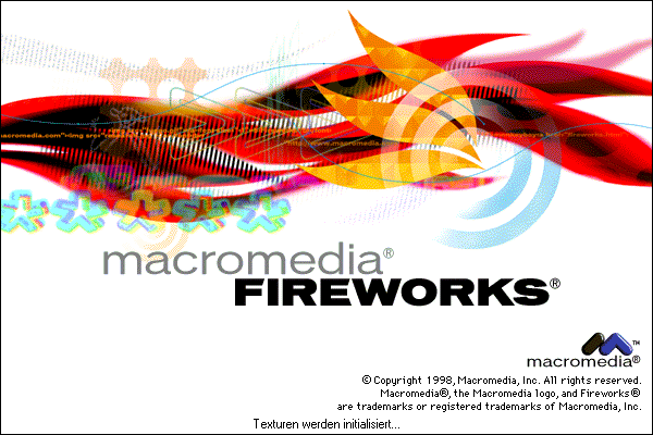 Splash in Macromedia Fireworks
