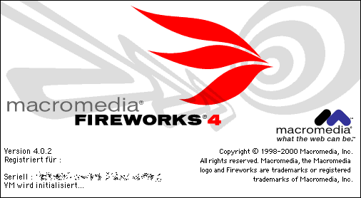 Splash in Macromedia Fireworks 4