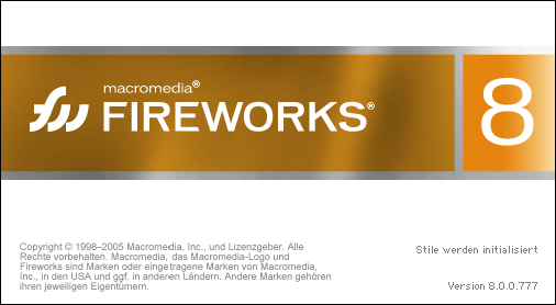 Splash in Macromedia Fireworks 8