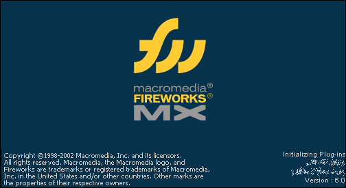 Splash in Macromedia Fireworks MX