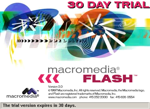 Splash in Macromedia Flash 2