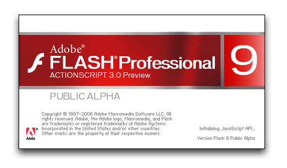 Splash in Adobe Flash Professional 9