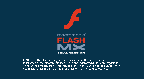 Splash in Macromedia Flash MX