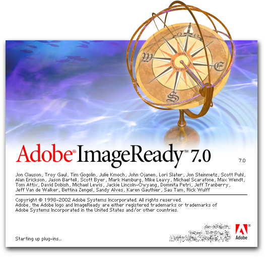 Splash in Adobe ImageReady 7.0