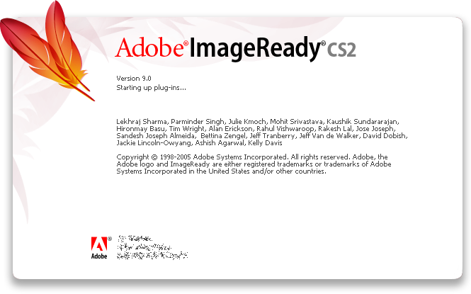 Splash in Adobe ImageReady CS2