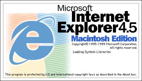 Splash in Internet Explorer 4.5