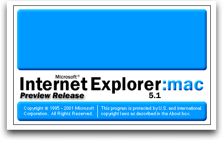 Splash in Internet Explorer 5.1