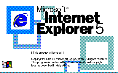 Splash in Internet Explorer 5