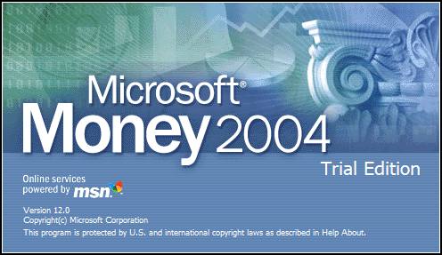 Splash in Microsoft Money 2004