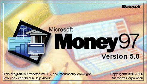 Splash in Microsoft Money 97