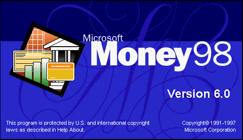 Splash in Microsoft Money 98