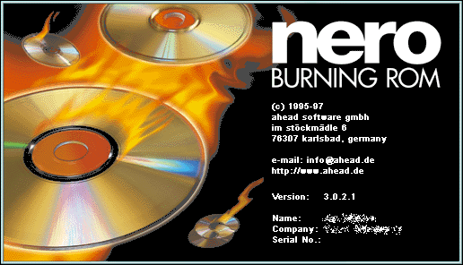 Splash in Nero Burning ROM 3.0