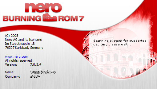 Splash in Nero Burning ROM 7