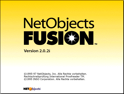 Splash in NetObjects Fusion 2.0
