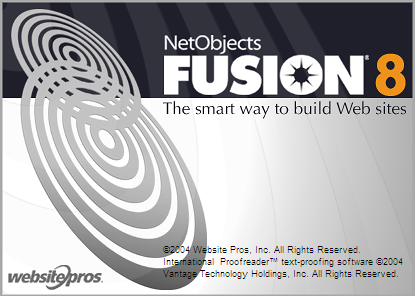Splash in NetObjects Fusion 8.0