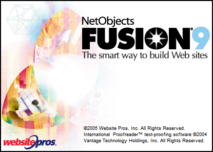 Splash in NetObjects Fusion 9.0
