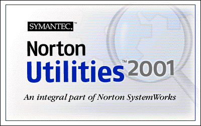 Splash in Norton Utilities 2001