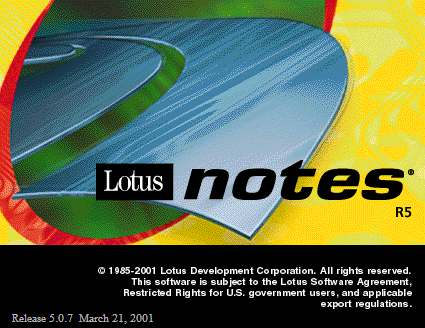 Splash in Lotus Notes R5