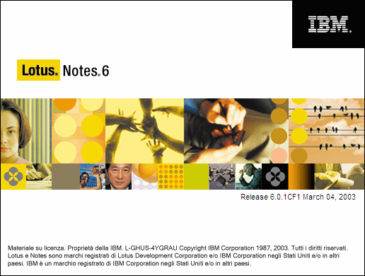 Splash in Lotus Notes 6