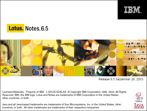 Splash in Lotus Notes 6.5