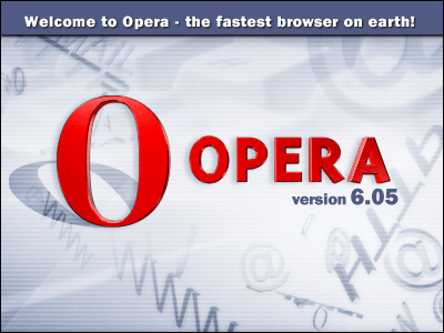 Splash in Opera 6.05