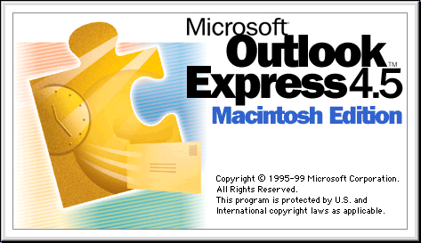 Splash in Microsoft Outlook Express 4.5