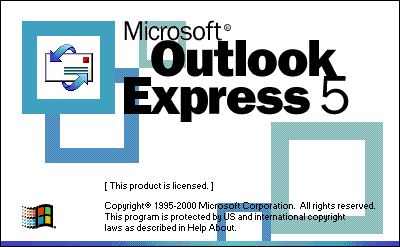 Splash in Microsoft Outlook Express 5