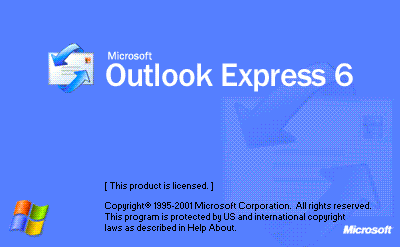 Splash in Microsoft Outlook Express 6