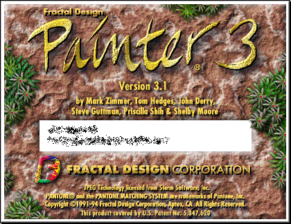Splash in Fractal Design Painter 3.1