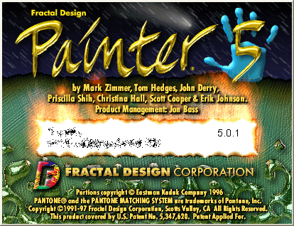 Splash in Fractal Design Painter 5